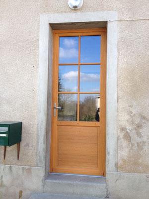 portes d39entree menuiserie jean marc brunet montmorillon With porte d entrée pvc avec bois hydrofuge pour salle de bain