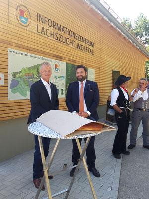 Henry Heller, Regionalentwicklung Mittlerer Schwarzwald e.V. und Matthias Bauernfeind, Bürgermeister der Gemeinde Oberwolfach