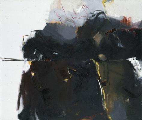 Ohne Titel mit Nestern, 1999, Öl auf Leinwand, 120 x 140, Privatbesitz