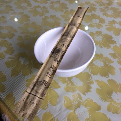 中国(成都だけ?)では取り皿は1個しか使わず、どんな料理もこれ一つで何でも入れて食べる。味が混ざるのであまり好きではないやり方。