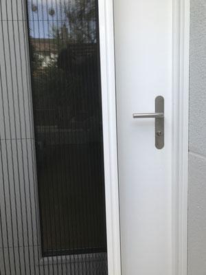 Insektenschutz-Plissee bei Türe zu Einlegerwohnung, EFH-Rothenburg