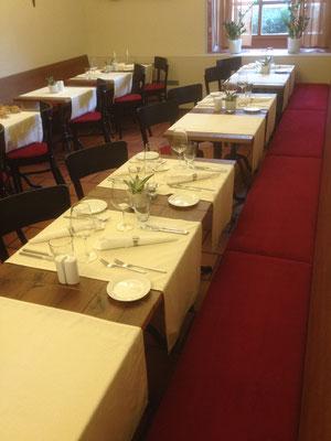 Sitzpolster zu bestehenden Restauranplätzen