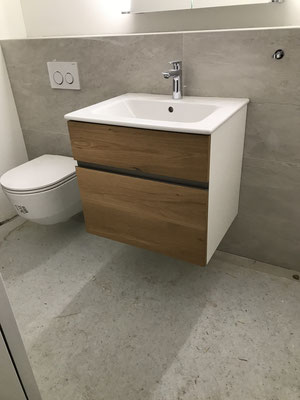 Unterbau in Gäste-WC, EFH Buchrain