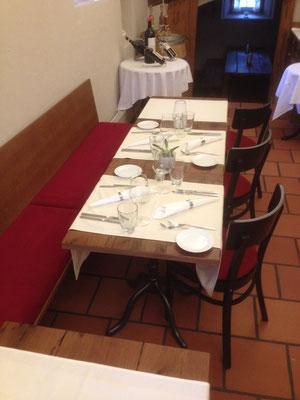 Sitzpolster für bestehende Bänke und Stühle, Gasthaus Bären Rothenburg