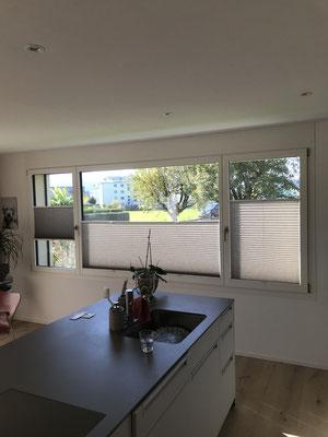 Plissee-Sichtschutz, 2-Fam.-Haus Rothenburg