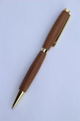 Holz: Zwetschke / Drehkugelschreiber  / Länge 130mm / kleine Miene