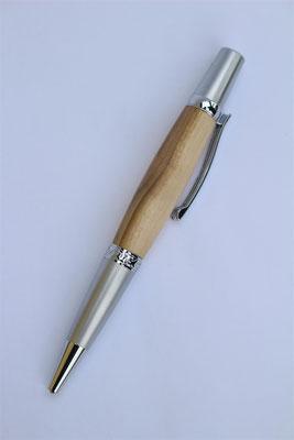 Holz: Ziberl(Wildpflaume)  / Drehkugelschreiber / Länge 135mm / Großraummiene