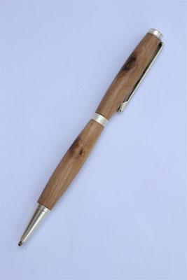 Holz: Olive / Drehkugelschreiber  / Länge 130mm / kleine Miene