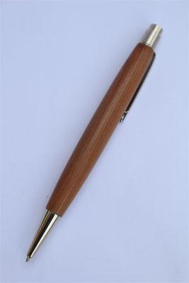 Holz: Zwetschke / Klickkugelschreiber  / Länge 142mm / Großraummiene