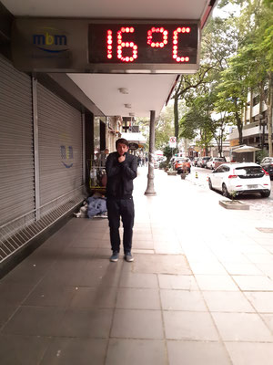 Hier ist es frisch...Temperatursturz von 20 Grad im Vergleich zu Sao Paulo