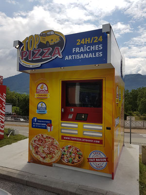 installation distributeur pizza