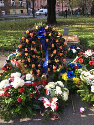 """El 6 de noviembre de 2019, 80 años de la """"Sonderaktion Krakau"""", Collegium Novum, Universidad Jagelona (Cracovia). © www.poloniaycentroeuropa.com CC-BY-SA 4.0."""