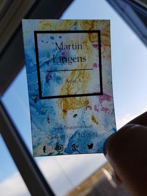 Künstler Martin Lingens, Visitenkarten