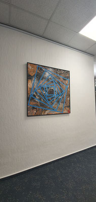 """Künstler Martin Lingens, Entstehung von """"Rotating Marble"""""""