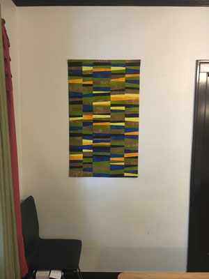 First Apartment Wall Quilt hanging in Chicago!