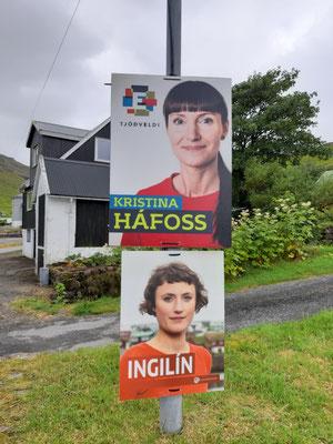 Wahlplakate in Kollafjördur