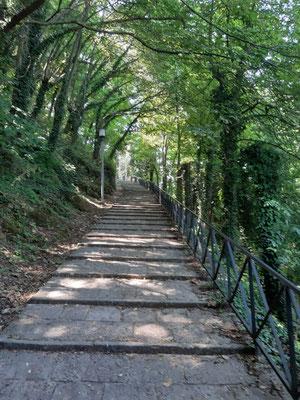 Weg nach Borgo Maggiore