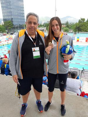 Bronzemedaille für Monica Ramirez Abella aus Andorra