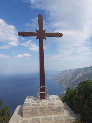 Am Berg Athos; Wanderung vom Kloster Megistes Lavras zum Kloster Agios Pavlos