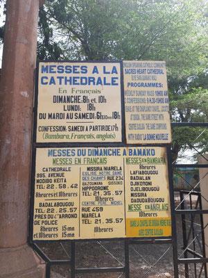 Öffnungszeiten der Kathedrale