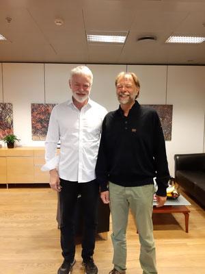 Mit Dr. Kari Stefansson, dem Chef von deCode Genetics