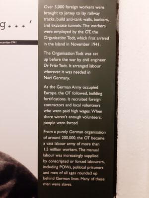 Erläuterung im Tunnel-Museum