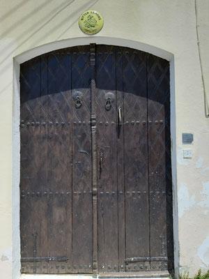 Tür des Hauses von Lawrence Durrell