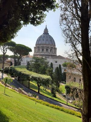 Benedikts Aussicht zum Petersdom