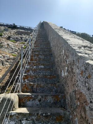 Die Treppen am Wall