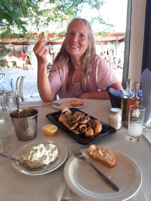 Beim Abendessen in Loutraki