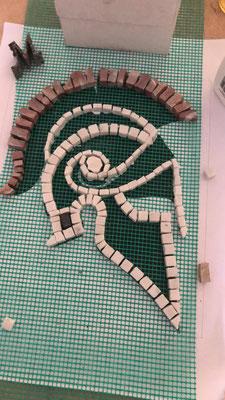 Mosaikarbeit Leonidas Helm