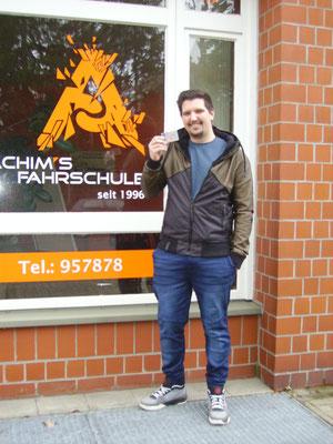 Oliver Trebschuh hat seinen B Führerschein seit dem 11.03.2019