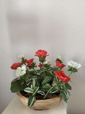 rote Anemonen-Arrangement