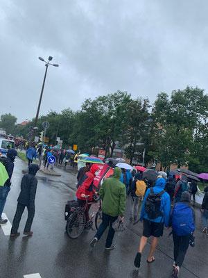 Klimademo gegen rechte Gewalt von FFF in Bitterfeld am 09.07.2021