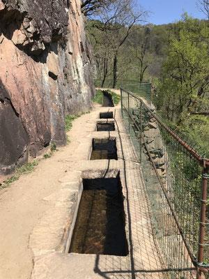 Aubazine .Le canal des moines .