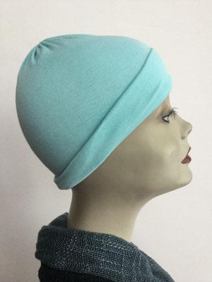 G24 - Kopfbedeckungen kaufen - Baumwollchäppli fest - helles Türkis
