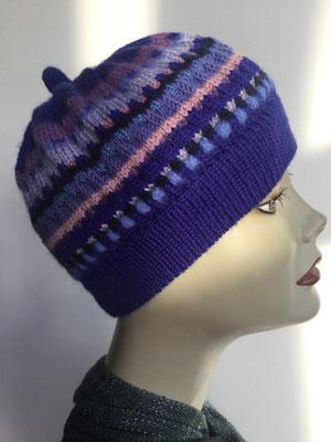 Wi 109f - High-Tech Supermodell  gestrickt - multicolor buntgestrickt - Kopfbedeckung nach Chemo
