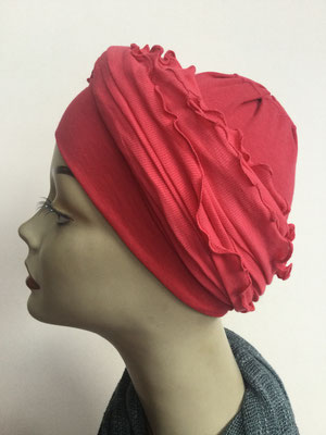 G32 - Kopfbedeckungen kaufen - Baumwollschlauch (Jersey) und Chäppli - rot