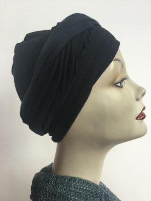 G38 - Kopfbedeckungen kaufen - Baumwollschlauch (Jersey) und Chäppli - schwarz