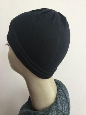 G19d - Kopfbedeckungen nach Chemo - Baumwollchäppli fein - schwarz