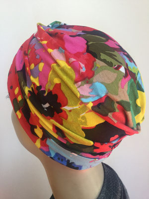 So 39a - Turban Nizza ohne Schlaufe -multicolor gemustert
