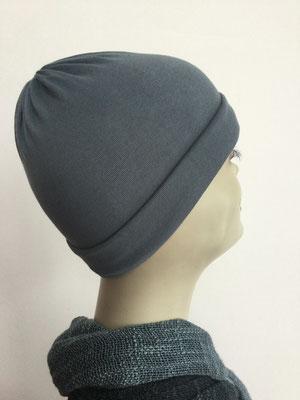 G27 - Kopfbedeckungen kaufen - Baumwollchäppli fest - grau