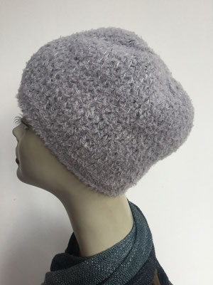 Wi 89a - Kopfbedeckung kaufen - Wintermodelle - Melone gehäkelt - hellgrau