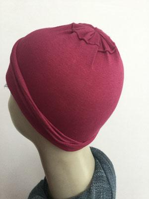 G19k - Kopfbedeckungen nach Chemo - Baumwollchäppli fein - rot