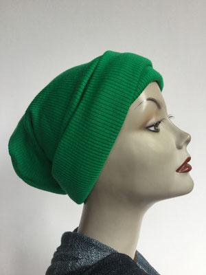 Wi 19c - Beanie genäht - kaltes grün - Kopfbedeckung kaufen