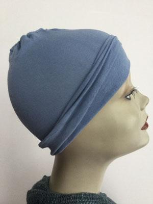 G14 - Kopfbedeckungen nach Chemo - Baumwollchäppli fein - hellblau