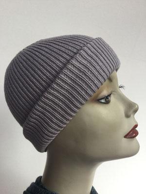 Wi 99g - Vreni Lorenzini - Kopfbedeckungen kaufen- Wintermodelle - Melone gestrickt - grau