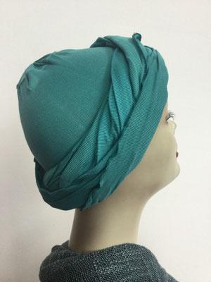 G34 - Kopfbedeckungen kaufen - Baumwollschlauch (Jersey) und Chäppli - petrol
