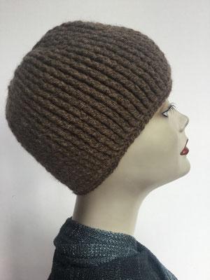 Wi 89f - Kopfbedeckung kaufen - Winterrmodelle - Melone gehäkelt - braun taupe
