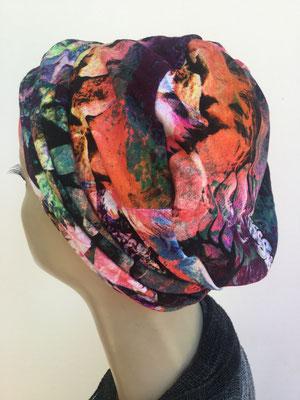 So 19b - Hutmodell Beanie (doppelte Stofflage) - multicolor kräftige Farben